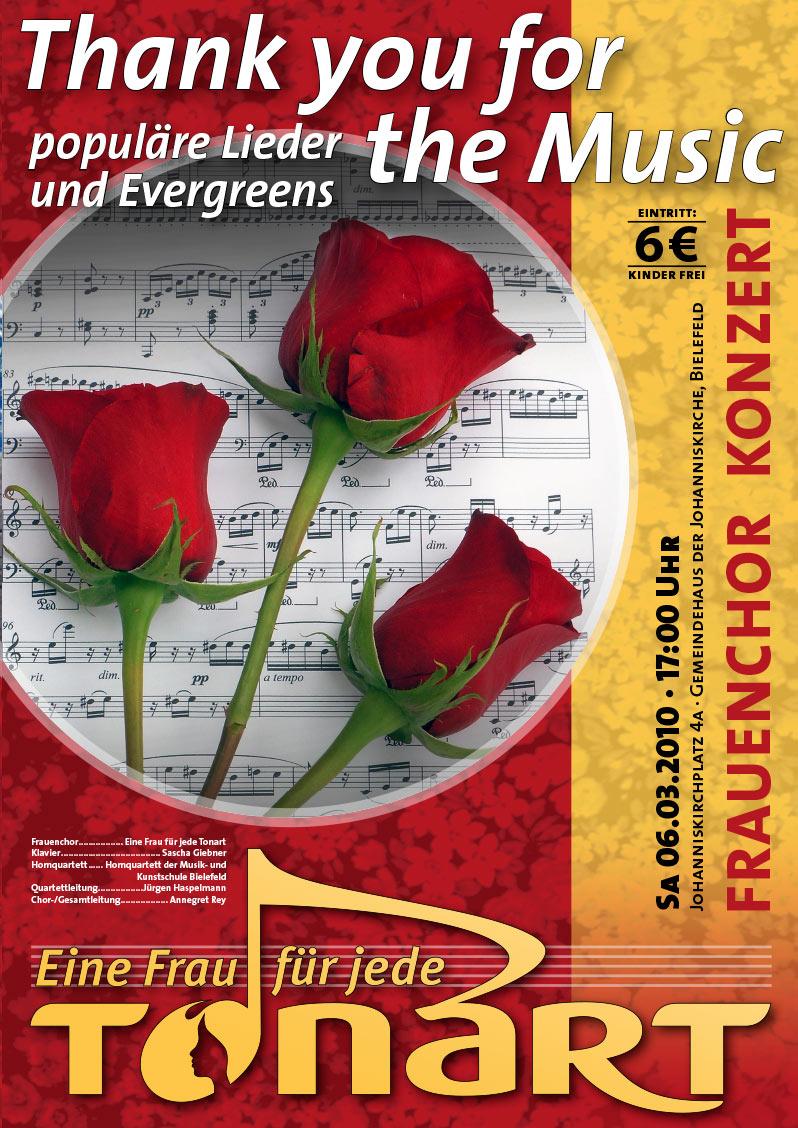 Plakat Frauenchor Eine Frau für jede Tonart