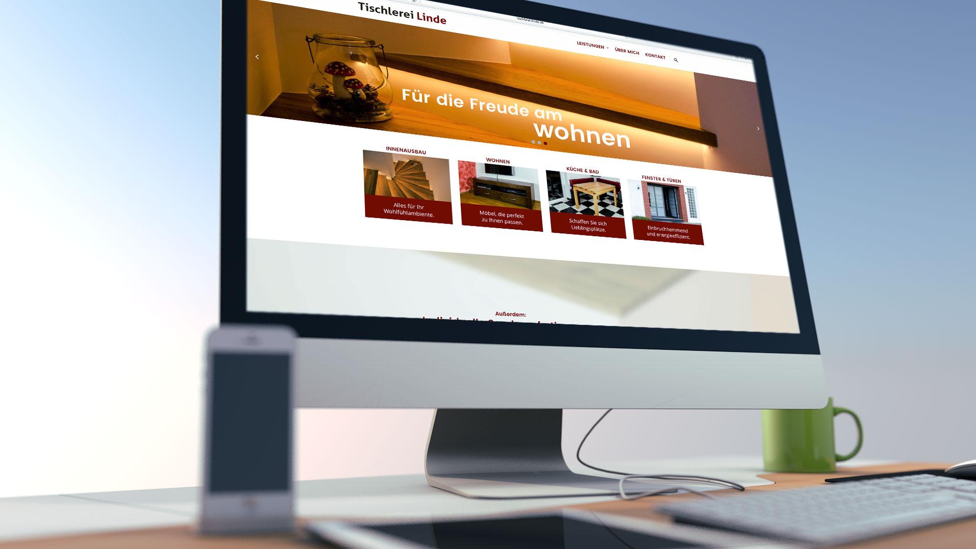 Tischlerei linde webauftritt screendesign for Tischlerei herford