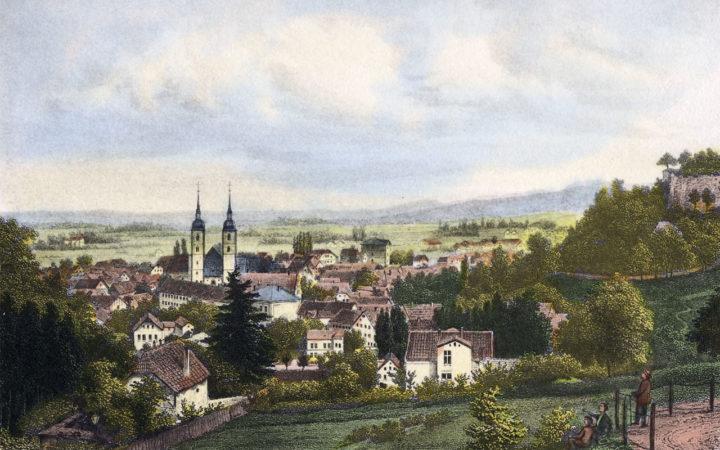 Kolorierter Stahlstich vor 1872 · Werner Schuch