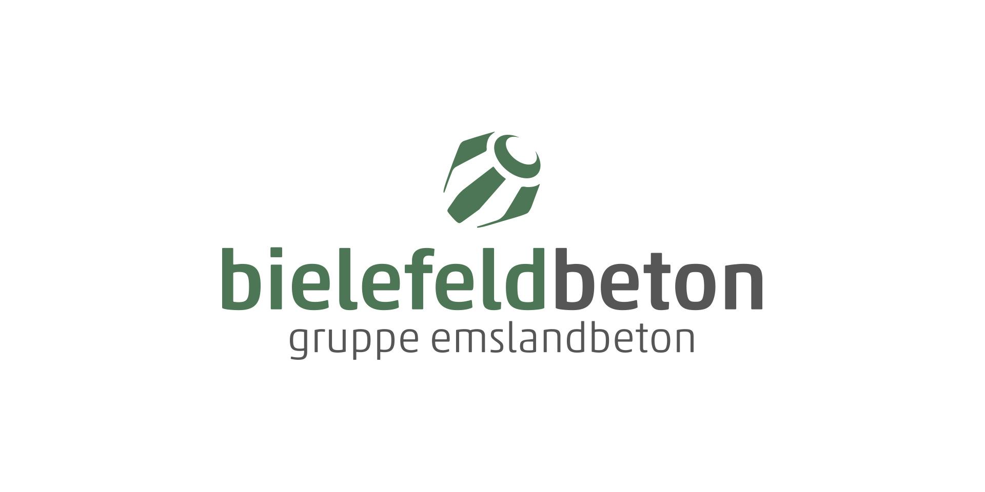 bielefeld beton Unternehmenslogo. André Morre Mediendesign