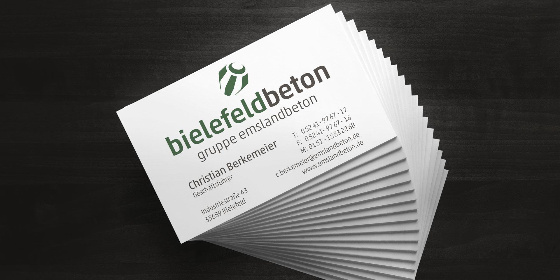 Logoentwicklung bielefeldbeton