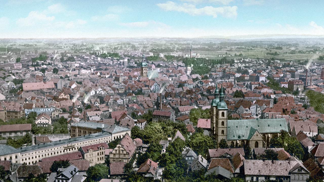 Bielefeld Panoramafotografie von 1896