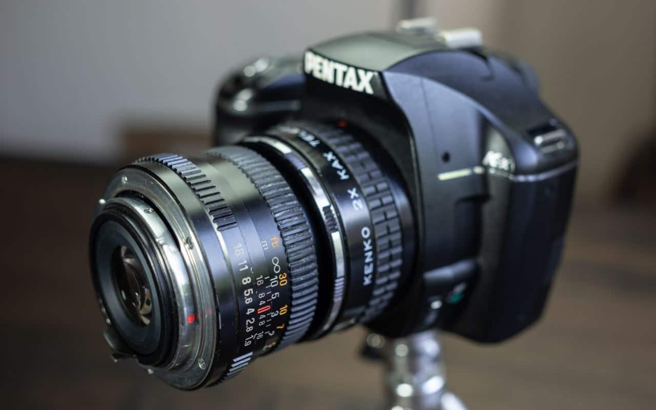 Kamera mit Retroadapter