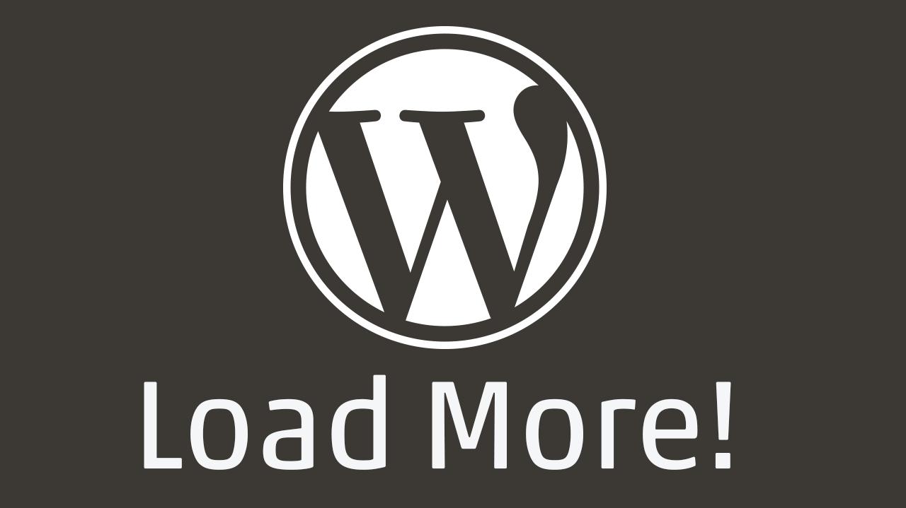 """Wordpress Logo mit Unterzeile """"Load More!"""""""